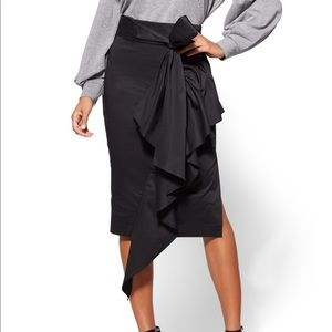 New York and company poplin skirt